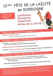 Semaine de la Laïcité en Dordogne (24) @ Augignac et Périgueux