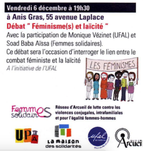 Féminisme(s) et laïcité à Arcueil (94) @ Le lieu de l'autre – Anis Gras 55, avenue Laplace