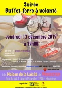 Buffet laïque en Belgique @ Maison de la Laïcité de Mouscron – Comines – Estaimpuis