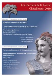Semaine de la laïcité à Châtellerault (86) @ Promenades Blossac, Châtellerault