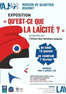 """Jusqu'au 7 février : exposition """"Qu'est-ce que la laïcité"""" à Laval (Mayenne) @ Maison de quartier de Bourny"""