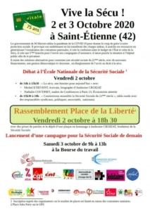 Vive la sécu ! (Saint-Étienne) @ Saint-Etienne