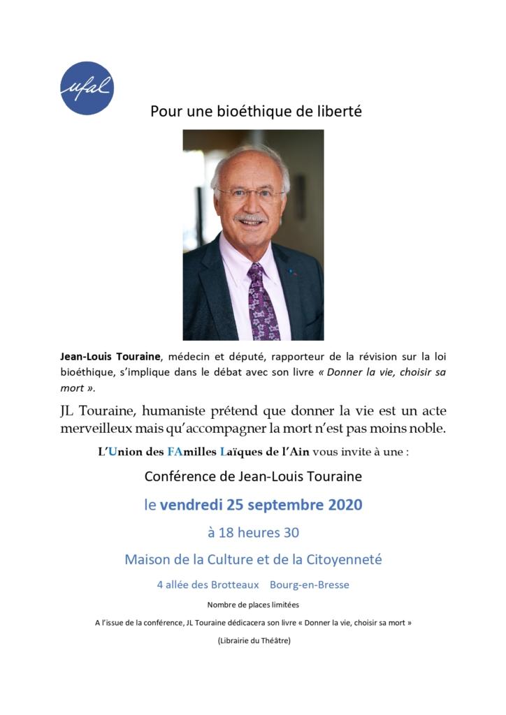 Bourg-en-Bresse (01) : conférence de J-L Touraine @ Maison de la Culture et de la Citoyenneté