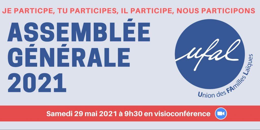 AG de l'Ufal  samedi 29 mai 2021 à 9h30 en visioconférence @ Visioconférence