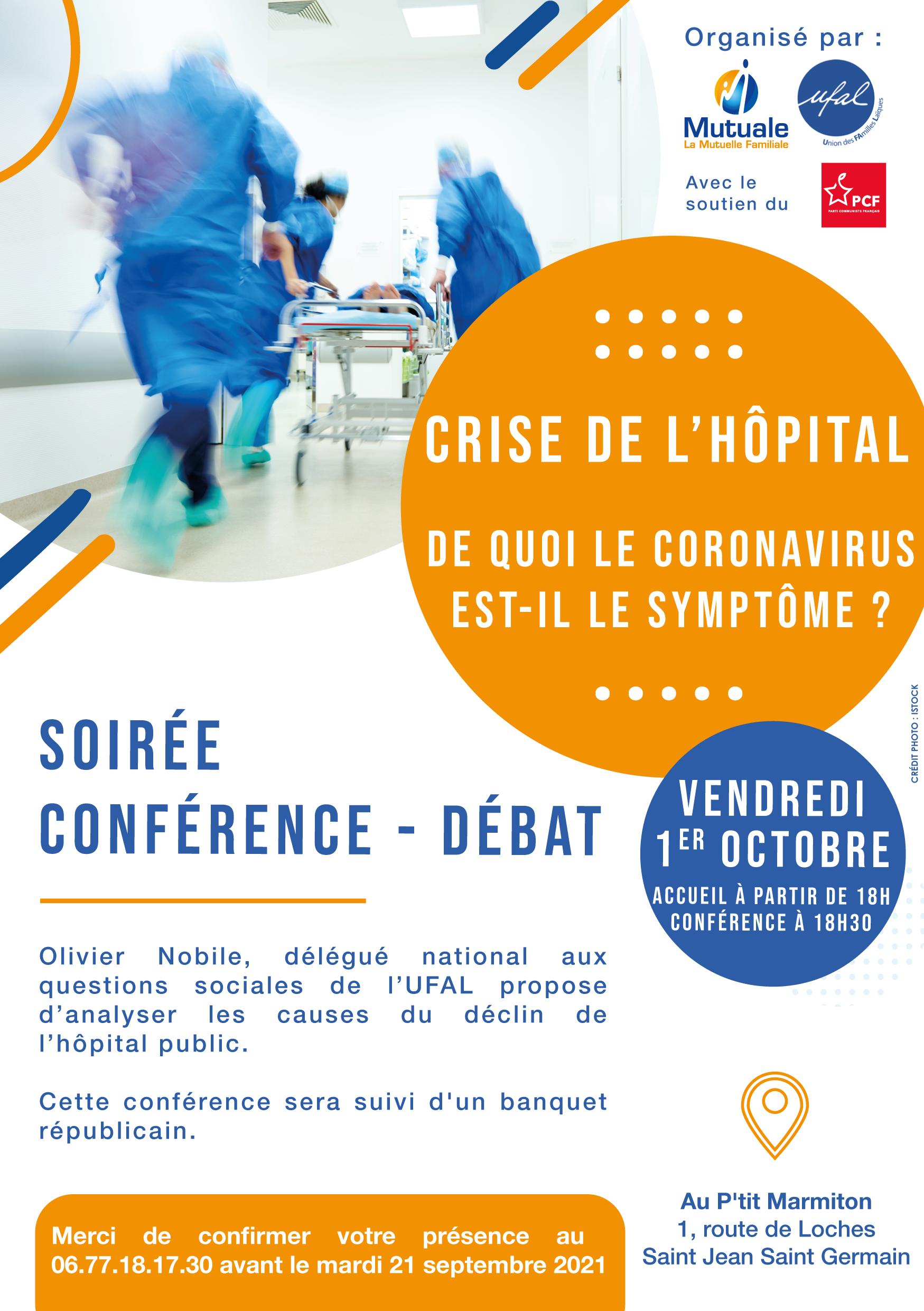 Conférence santé à Loches (37) le 1er octobre (réservée aux adhérents) @ P'tit Marmiton
