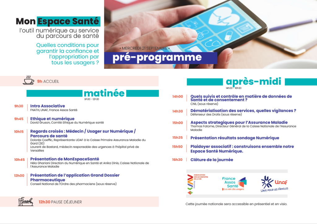 Journée nationale France Assos Santé - mon espace santé @ UICP